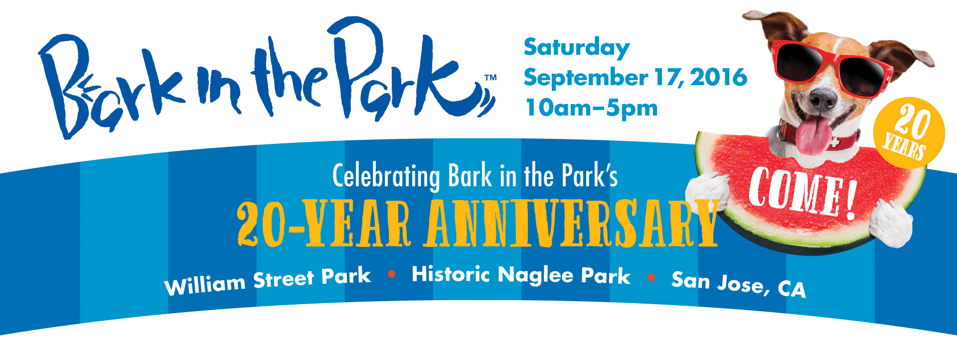 Bark in the Park San Jose, Sept.19, 10-5, William Street Park in downtown San Jose